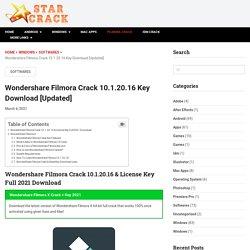 Wondershare Filmora Crack 10.1.20.16 Key Download [Updated] (Latest)