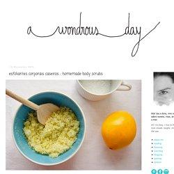 a wondrous day: esfoliantes corporais caseiros