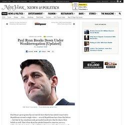 Paul Ryan Breaks Down Under Wonkterrogation