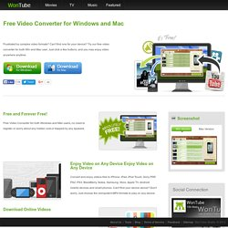 Free Video Converter for Windows and Mac