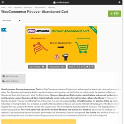 WooCommerce Recover Abandoned Cart - WordPress