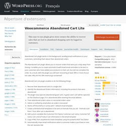 Woocommerce Abandoned Cart Lite — WordPress Plugins