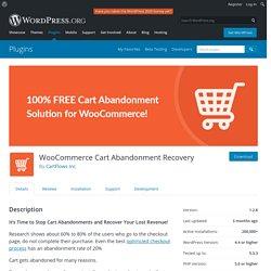 WooCommerce Cart Abandonment Recovery – WordPress plugin