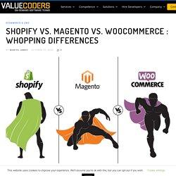 Shopify vs. Magento vs. WooCommerce