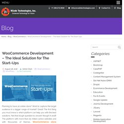WooCommerce Development - The Ideal Solution for The Start-Ups