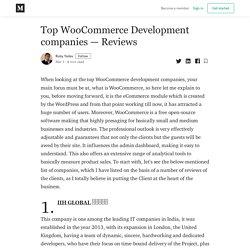 Top WooCommerce Development companies — Reviews - Ruby Yadav - Medium