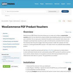 WooCommerce PDF Product Vouchers