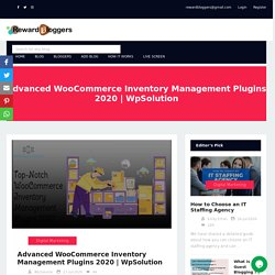 Top-Most WooCommerce Inventory Management Plugins 2020