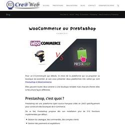 WooCommerce ou Prestashop - RD-CreaWeb