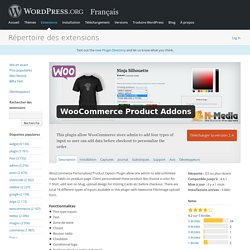 WooCommerce Product Addons — WordPress Plugins
