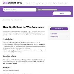 WooCommerce Quantity Increment Buttons, Plus Minus Plugin