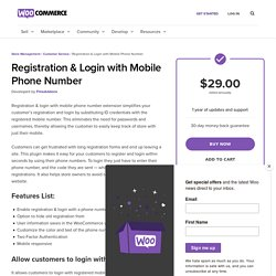 WooCommerce Registration & Login with Mobile Phone Number