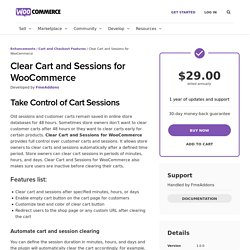WooCommerce Auto Clear Cart & Sessions After Time Plugin