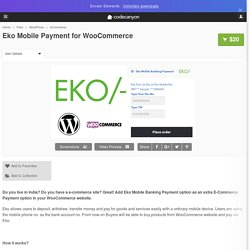 Eko Mobile Payment for WooCommerce by tawhidurrahmandear