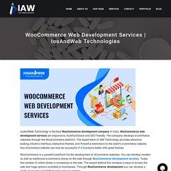 WooCommerce Web Development Services