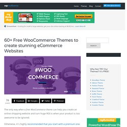 60+ Best Free WooCommerce Themes 2016 updated