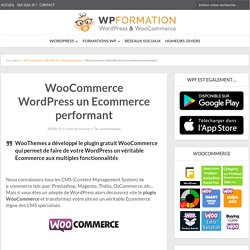 Transformez gratuitement WordPress en Ecommerce