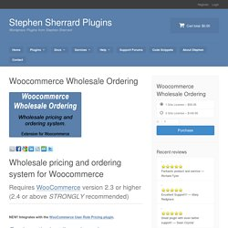 Woocommerce Wholesale Ordering