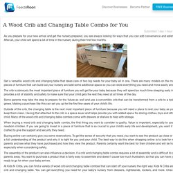 A Wood Crib and Changing Table Combo for You