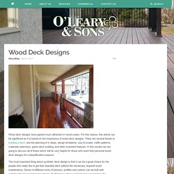 Wood Deck Designs – Oleary and Sons