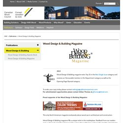 Wood Design and Building Magazine - CWC