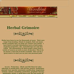 Wiccan, Pagan, New Age Store - Woodbine Herbs - Metaphysical Supplies & Apparel