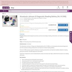 Woodcock-Johnson III Diagnostic Reading Battery (WJ III DRB)