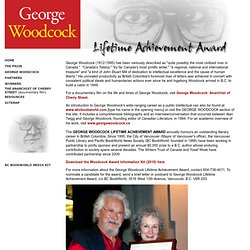 Home - George Woodcock Lifetime Achievement Award