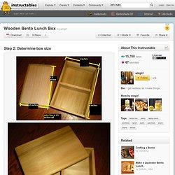 Wooden Bento Lunch Box : Determine box size