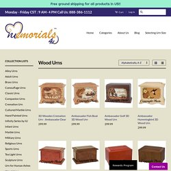 Wood Urns: Wooden Cremation Memorial Urns for Ashes