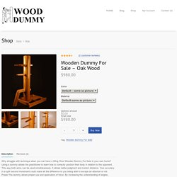 Wooden Dummy For Sale - Oak Wood
