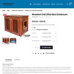 Wooden Cat Litter Box Enclosure