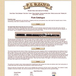 Wooden Flutes by P.G. Bleazey UK