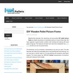DIY Wooden Pallet Picture Frame