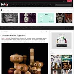 Wooden Robot Figurines