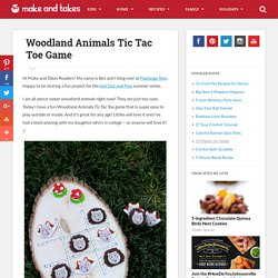 Woodland Animals Tic Tac Toe Game