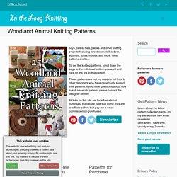 Woodland Animal Knitting Patterns- In the Loop Knitting