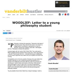 WOODLIEF: Letter to a young philosophy student - The Vanderbilt Hustler: Opinion