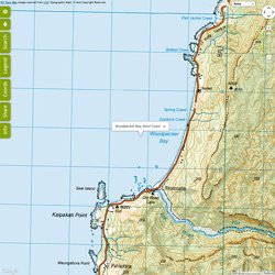 Woodpecker Bay, West Coast - NZ Topo Map