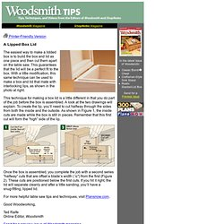 Woodsmith Tip: A Lipped Box Lid