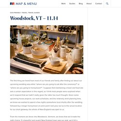 Woodstock, VT - 11.14 - Map & Menu