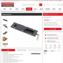 Buy Veritas Inset Vice from Axminster, fast delivery for the UK