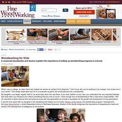 Woodworking for Kids