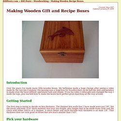 Bill's Woodworking - Making Wooden Recipe Boxes