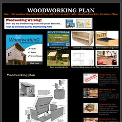 Woodworking plan - woodworking plan