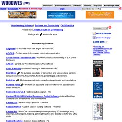 Free Woodworking Software at WOODWEB