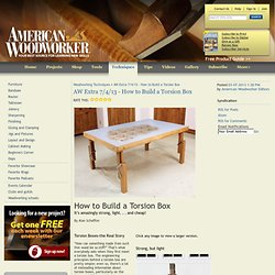 AW Extra 7/4/13 - How to Build a Torsion Box - Woodworking Techniques