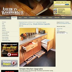 AW Extras 4/17/14 - Simple Kitchen Upgrades - Woodworking Projects