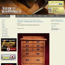 AW Extra - Stickley Style Chest of Drawers