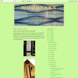 Woodyarn: How to keep track of your weaving?